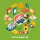 Digital Marketing Isometric Concept - GraphicRiver Item for Sale