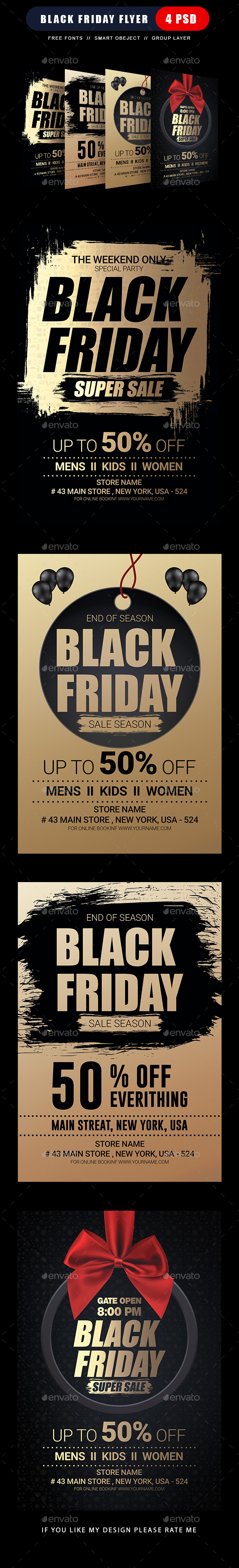 Black Friday Sale Flyer - Clubs & Parties Events