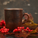 Mug or cup of hot viburnum tea. - PhotoDune Item for Sale