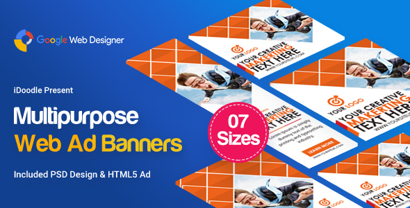 Multi Purpose Banners HTML5 D3 - Google Web Designer            Nulled