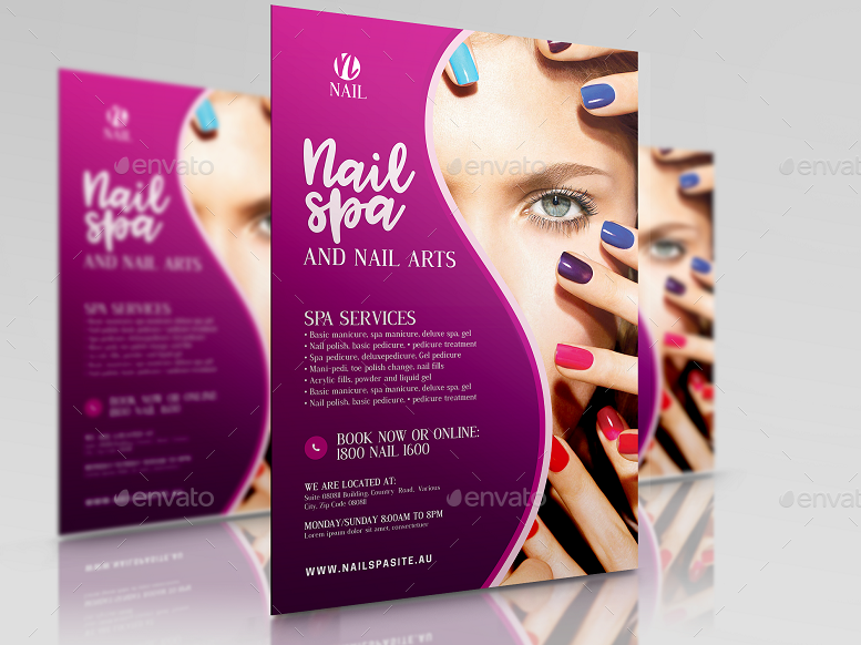 Nail Salon Services Flyer By Artchery Graphicriver