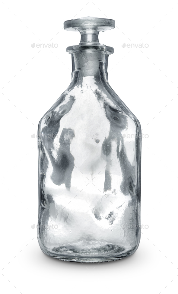 Empty glass bottle - Stock Photo - Images