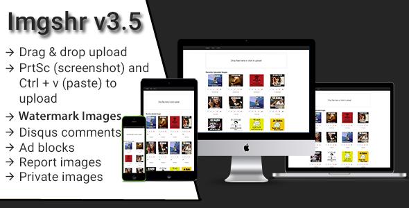 Imgshr v3.5 - Easy Snapshot, Image Upload & Sharing Script - CodeCanyon Item for Sale
