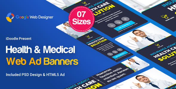 Medical Agency Banners HTML5 - Google Web Designer            Nulled