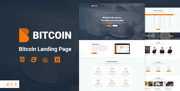 Bitcoin - Landing Page - Business Corporate