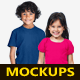 Kids T-Shirts Mockups - GraphicRiver Item for Sale