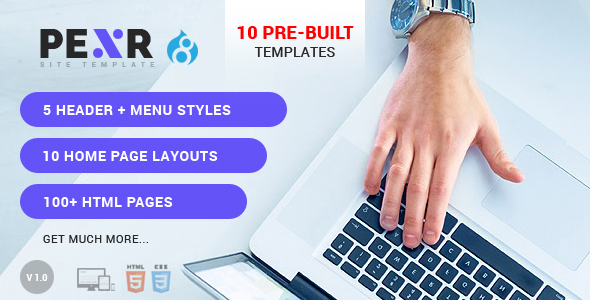 Pexr - Responsive MultiPurpose Drupal 8 Theme