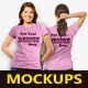 Women T-Shirts Mockups - GraphicRiver Item for Sale