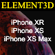 Element3D – iPhone XS - XR Collection - 3DOcean Item for Sale