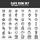 CAFE ICON SET - GraphicRiver Item for Sale
