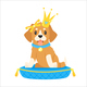 Dog in Crown - GraphicRiver Item for Sale