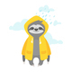 Sloth in Raincoat - GraphicRiver Item for Sale