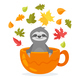 Sloth in Cup - GraphicRiver Item for Sale