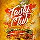 Burger Club Menu Template