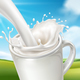 Nature Landscape Behind Milk Splash