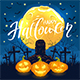 Halloween Background with Pumpkins and Cross - GraphicRiver Item for Sale
