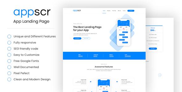 Appscr - HTML5 App Landing Page