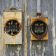 Ancient Vintage Rusted Outdoor Electrical Fuses Boxes Holders  - PhotoDune Item for Sale