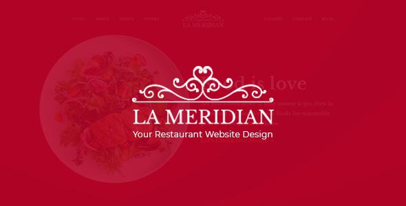 La Meridian - Restaurant Website PSD Template - PSD Templates