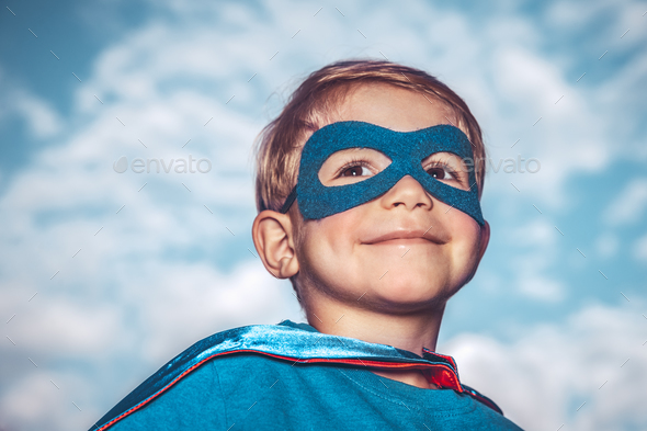 Little superhero - Stock Photo - Images