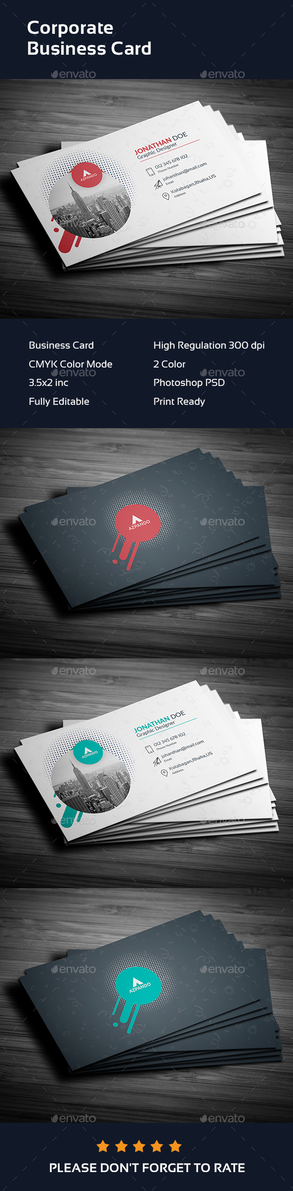 Business card templates designs from graphicriver reheart Images