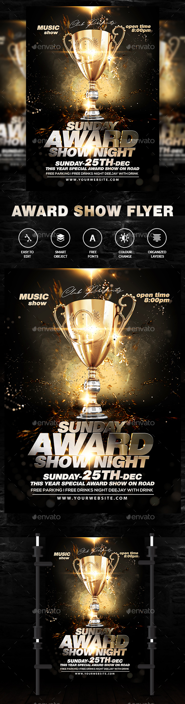 Award Show Flyer - Events Flyers