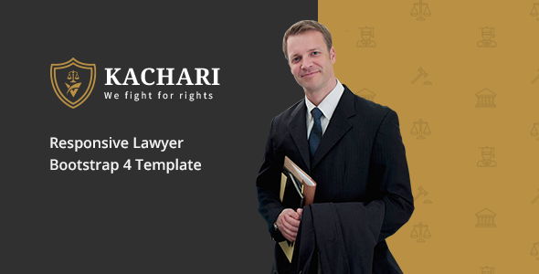 Kachari - Personal Lawyer Bootstrap4 Template - Business Corporate