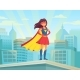 Super Woman Watching City - GraphicRiver Item for Sale