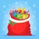 Santa Claus Gifts in Bag - GraphicRiver Item for Sale