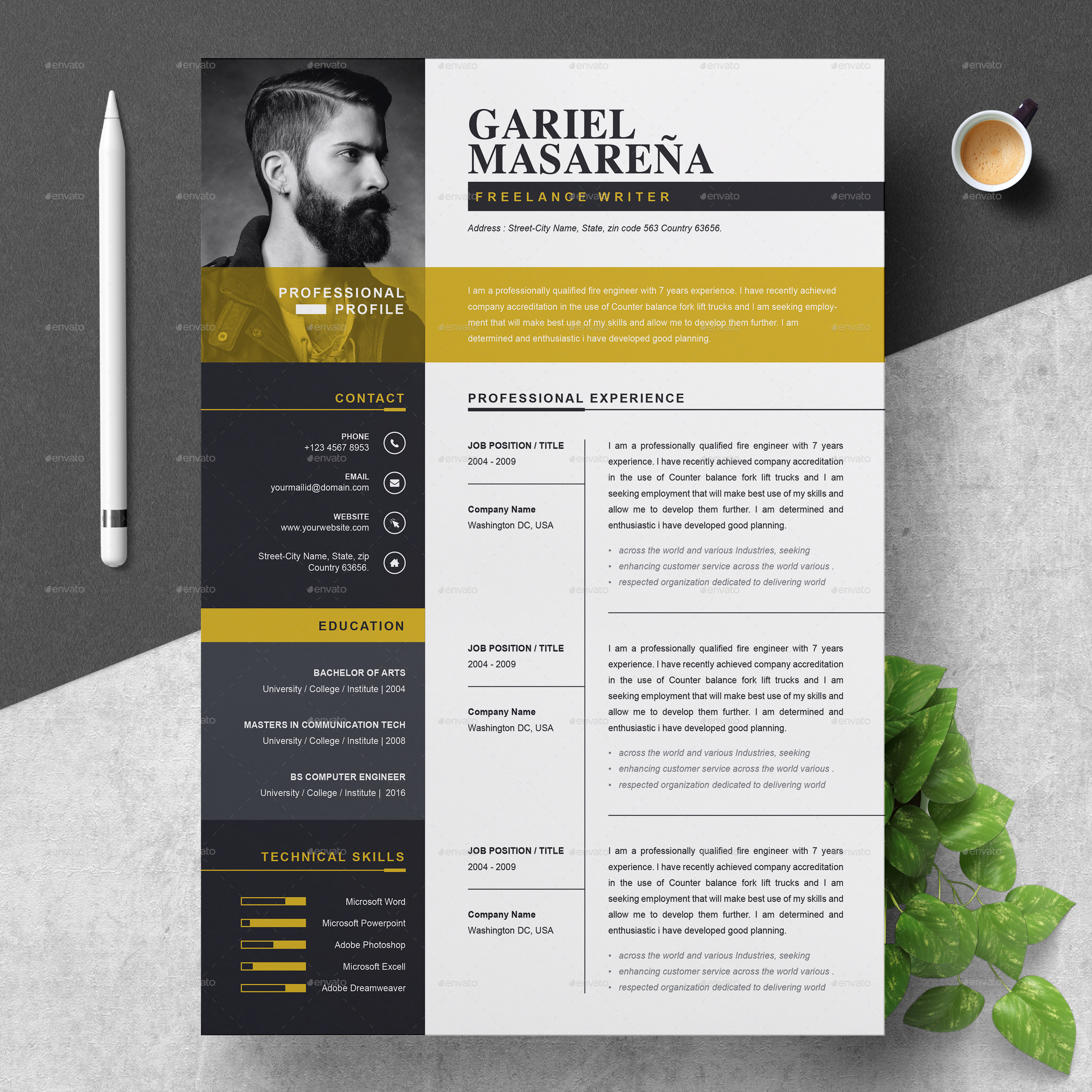 resume template by resumeinventor