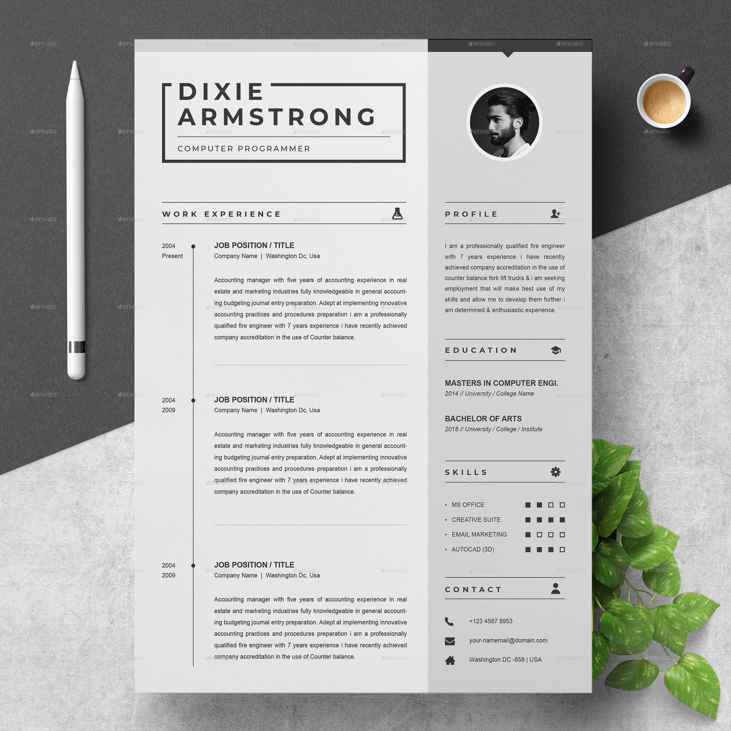 Clean Resume Template By ResumeInventor