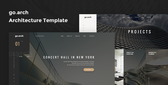 go.arch - One Page Architecture & Interior Template