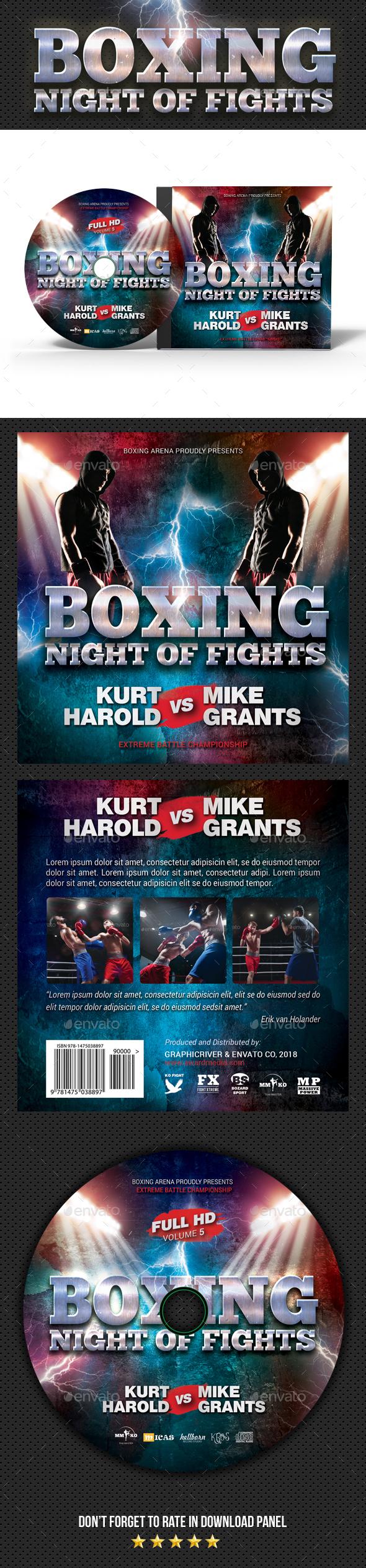 Boxing Muay Thai CD Cover - CD & DVD Artwork Print Templates