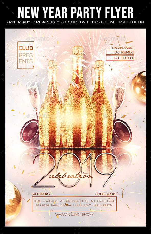 2016 Party Flyer - Clubs & Parties Events