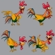Cartoon Multicolored Cockerel - GraphicRiver Item for Sale