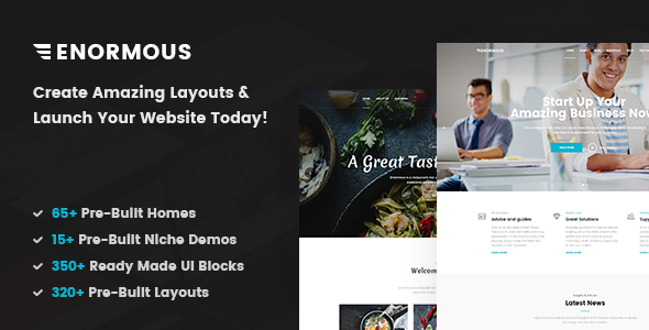 Enormous - Responsive Multi-Purpose HTML5 Template - Business Corporate