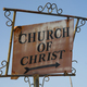 The Old Rusty Metal Sign Points Says Church of Christ - PhotoDune Item for Sale