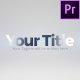 Glossy Title Reveal - VideoHive Item for Sale
