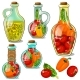 Set of Decorative Glass Bottles with Pickled Vegetables - GraphicRiver Item for Sale