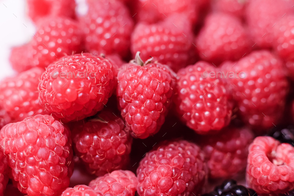 Raspberry in the Market - Stock Photo - Images