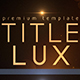 Title Lux - VideoHive Item for Sale