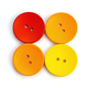 colored wooden buttons on white background - PhotoDune Item for Sale