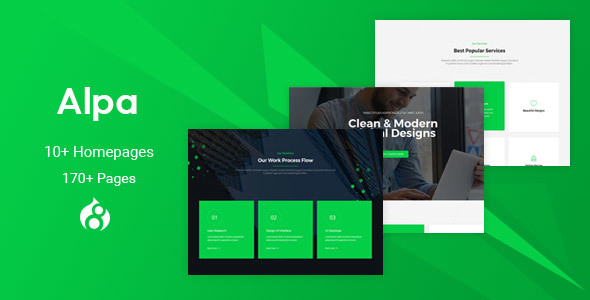 Alpa - Responsive MultiPurpose Drupal 8 Theme | Business
