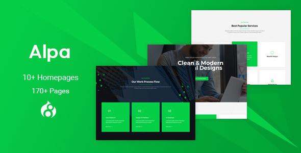 Alpa - Responsive MultiPurpose Drupal 8 Theme | Business - Business Corporate