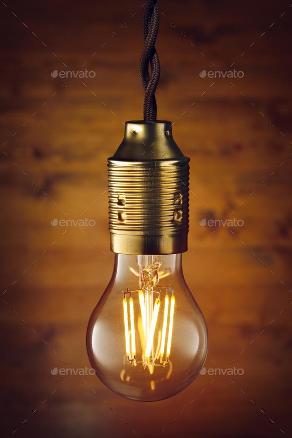 LED filament bulb - Stock Photo - Images