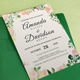 Rustic Floral Wedding Invitations Print Templates Set - GraphicRiver Item for Sale