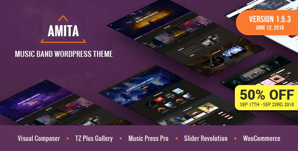 AMITA - Music Band WordPress Theme - Music and Bands Entertainment