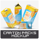 4 Types Milk / Juice Cartons Bundle Mock-Up - GraphicRiver Item for Sale