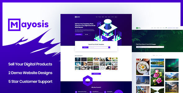 Mayosis - Digital Marketplace WordPress Theme - eCommerce WordPress