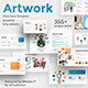 Business Artwork Pitch Deck Powerpoint Template - GraphicRiver Item for Sale